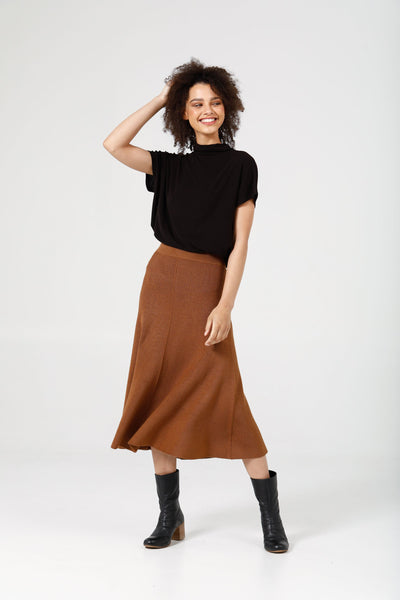 Tan knit skirt - free shipping