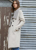 wool coat in stone - free shipping in australia
