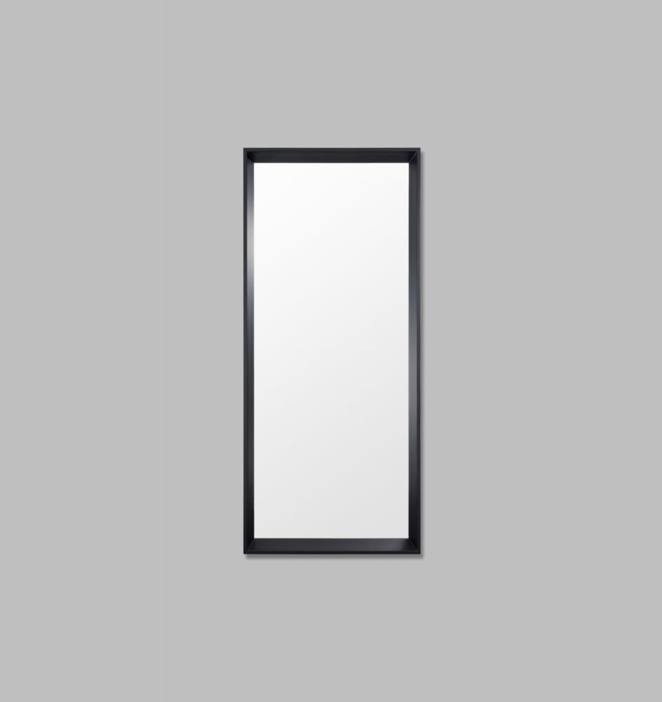 Angled thick frame leaner mirror