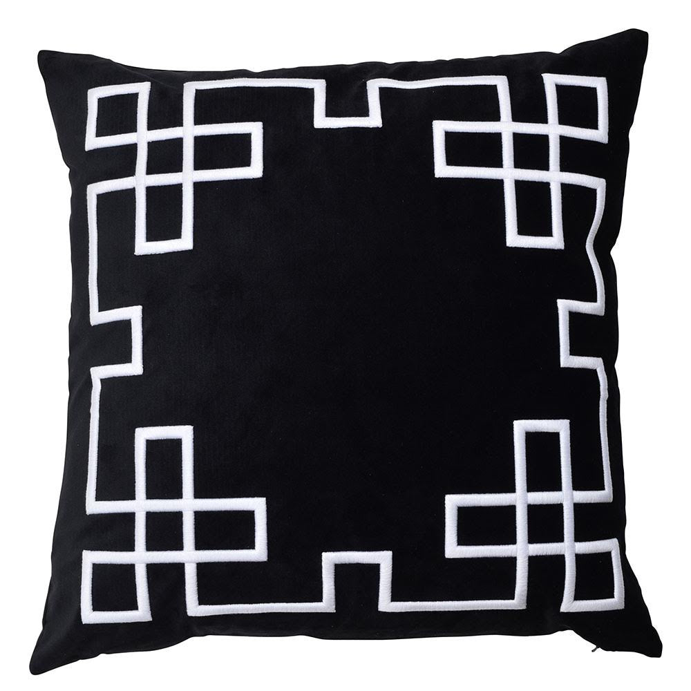 black silk and velvet palm springs euro cushion - available at the white place, orange nsw