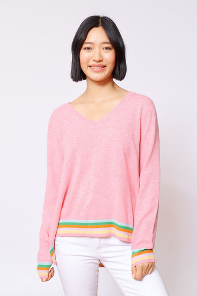 Aries sweater tickled pink