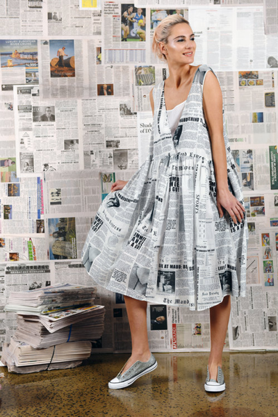 M A Dainty newspaper dress - free shipping