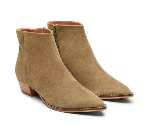 Sage suede ankle boot by Maya McQueen - available at the white place, orange nsw.  Free shipping within australia