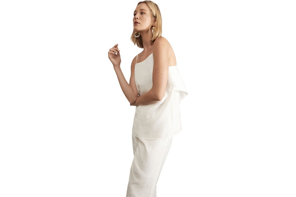 Pol clothing anke cami white - available at the white place, orange nsw. free shipping