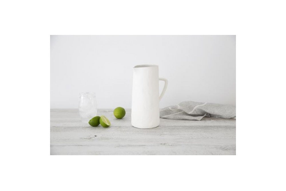 mediterranean markets flax jug with handle - available at the white place orange nsw
