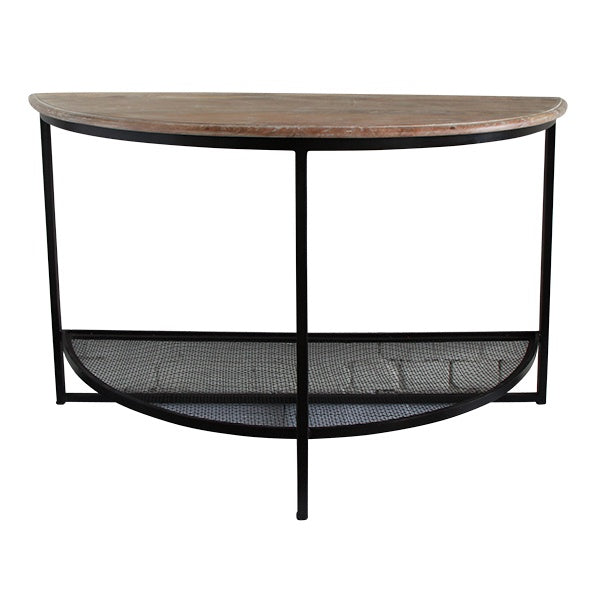 Half round console table - 124cmL x48cmw
