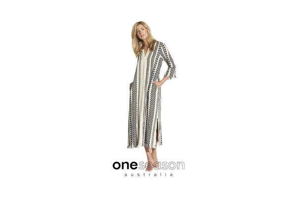 one season sani dress - 100% cotton, available from the white place, orange nsw. free shipping within australia