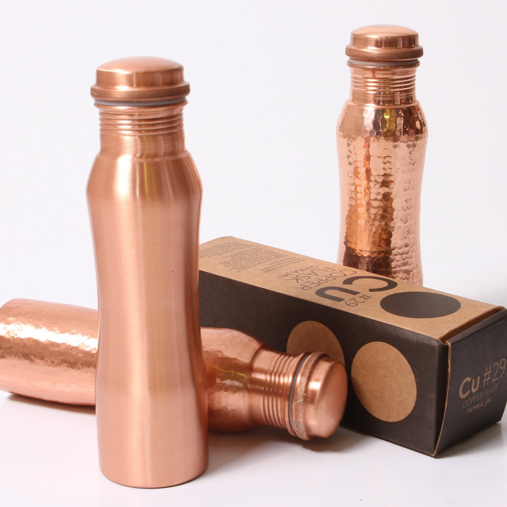 Indigo Love Collectors - copper flask/bottle.  Available at the white place, orange nsw