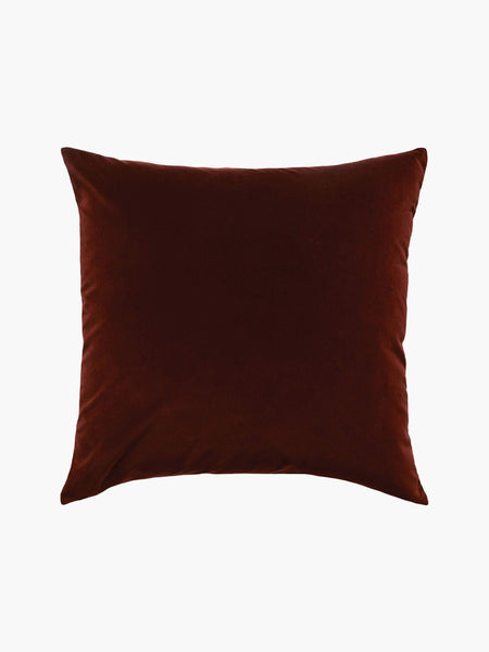 L&M velvet cushion - sumac etro grande, available at the white place