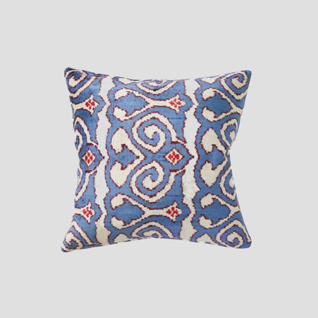 Cultiver silk velvet cushion - the white place, orange