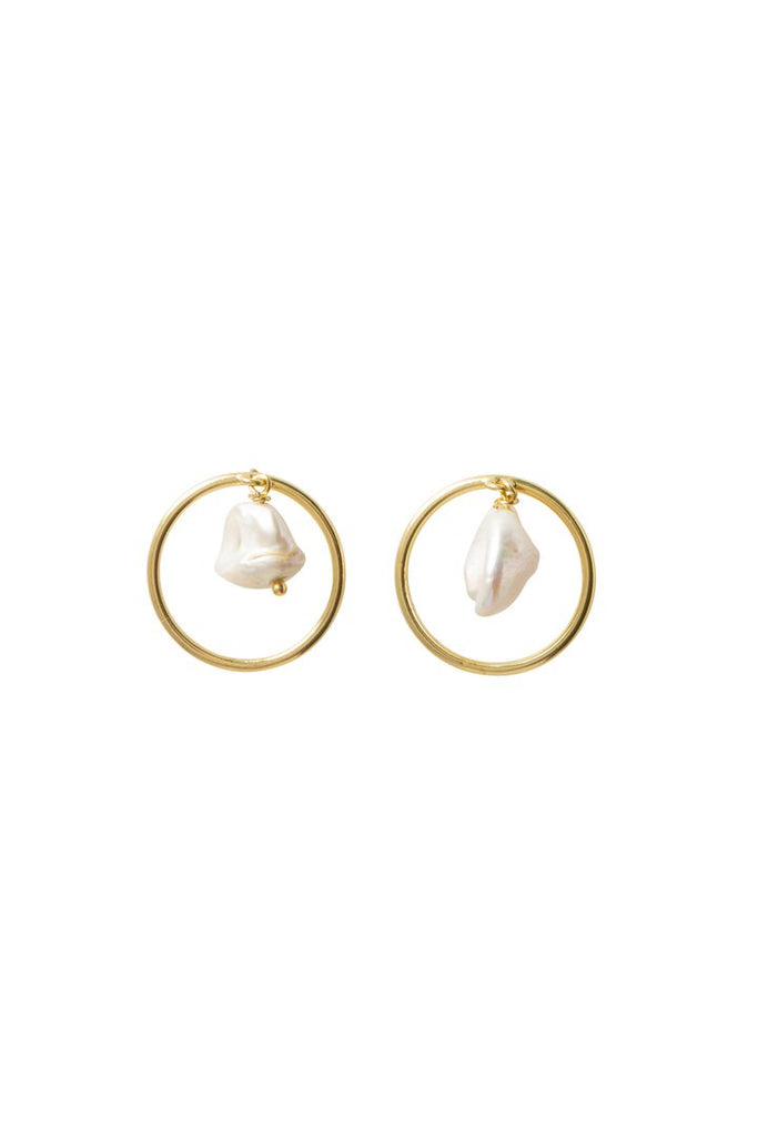Bobby earrings - at the white place, orange