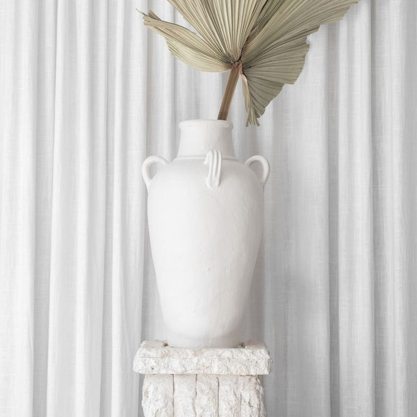 McMullin and Co Nola white vase available at the white place, orange