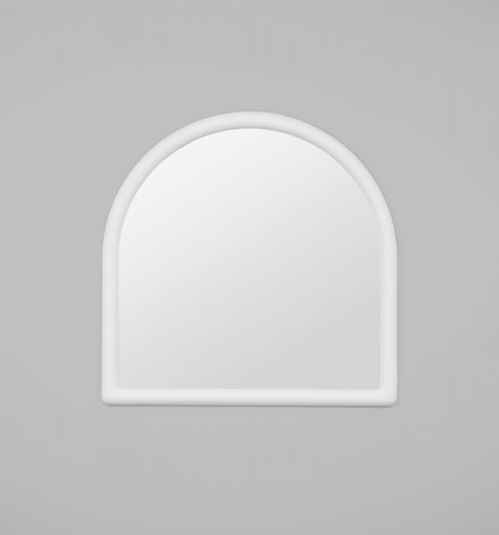Rounded edged frame - matte finish mirror