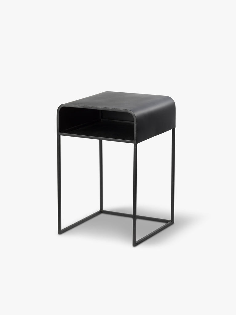 L & M home, kova black bedside table available at the white place, orange nsw