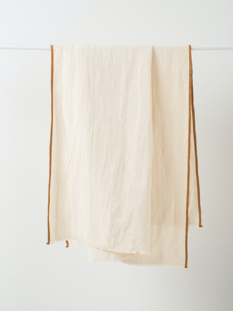 Citta Design Austen Linen throw available at the white place, orange
