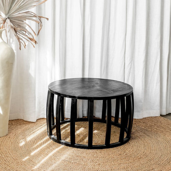 black round coffee table - 80cm