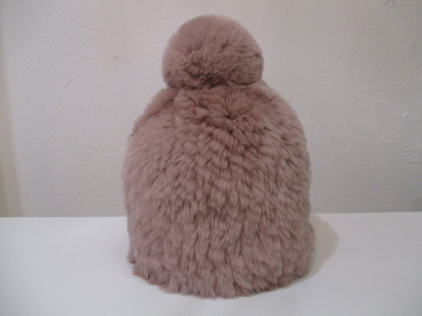rose or pink rabbit fur beanie available at the white place, orange nsw