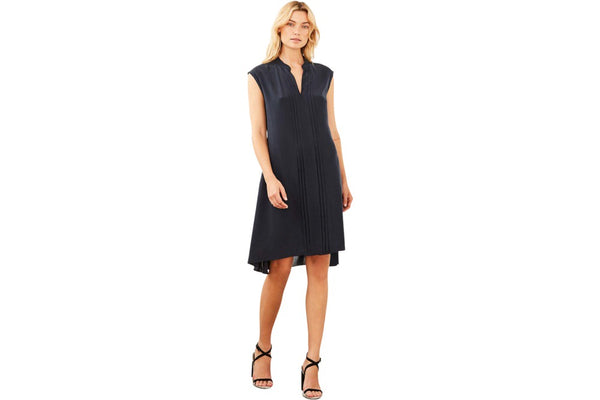 Ethereal Silk Dress Navy