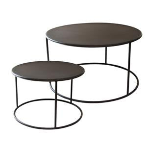 black iron nesting coffee tables