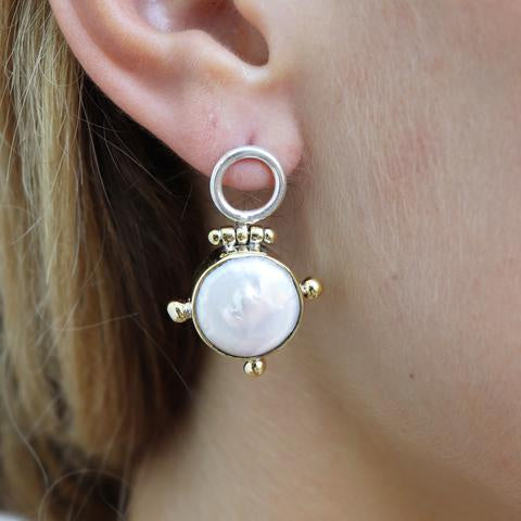 Toni May Lost Pearl earrings - available at the white place, orange