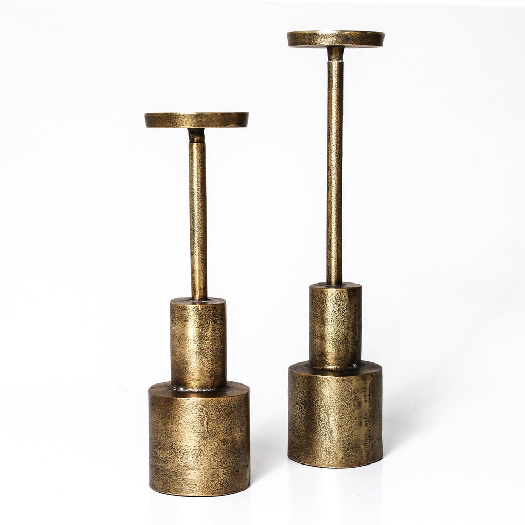 Indigo Love morris brass candle stands - available at the white place, orange