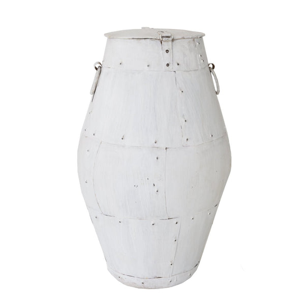St Barts tall iron pot with lid - available at the white place, orange nsw