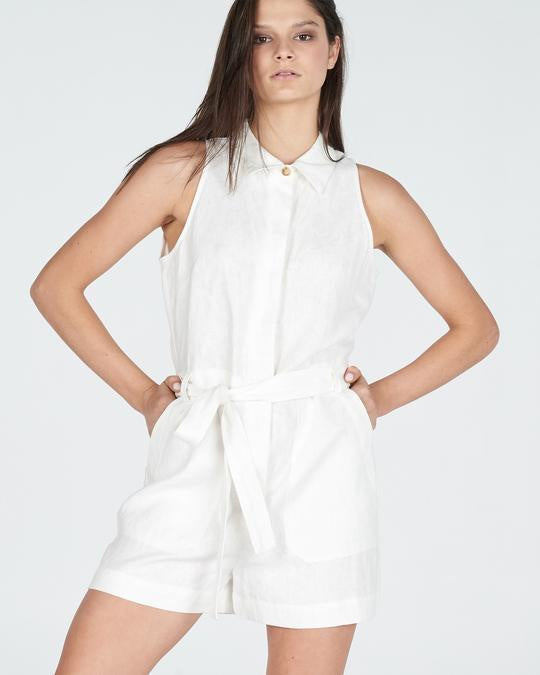white linen playsuit - free shipping