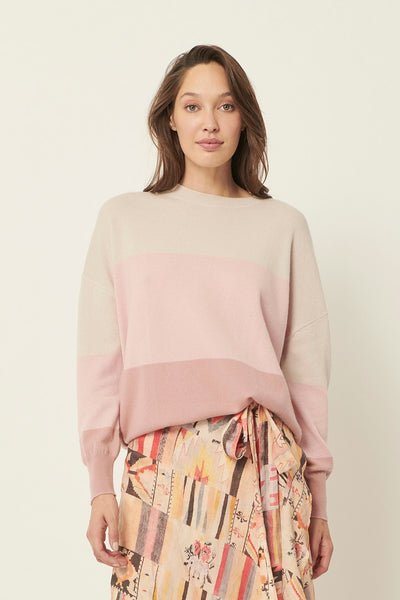The Dreamer Label cozy up knit in blush