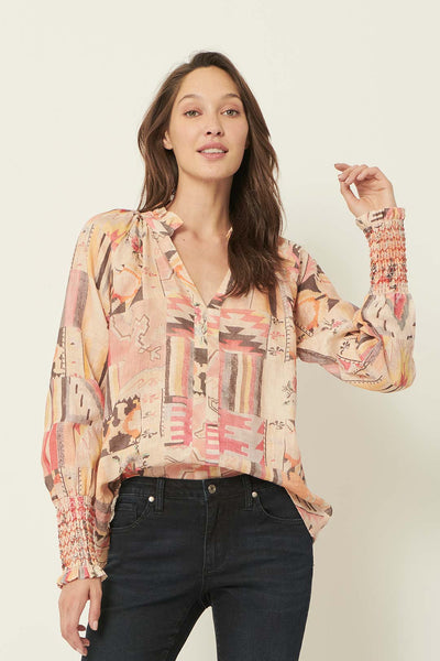 The Dreamer Label gaia tribe linen blouse