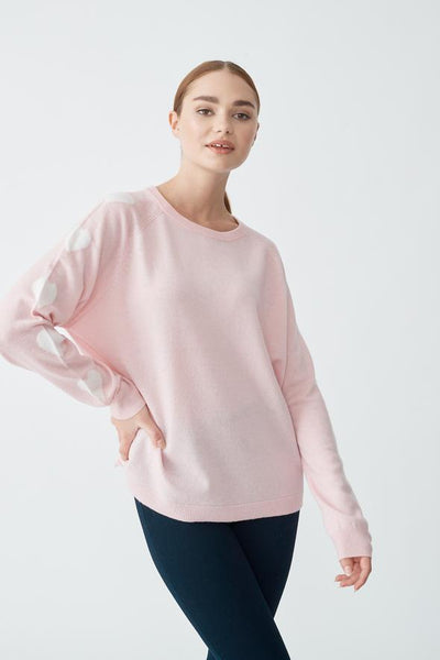 pink wool jumper available at the white place, orange