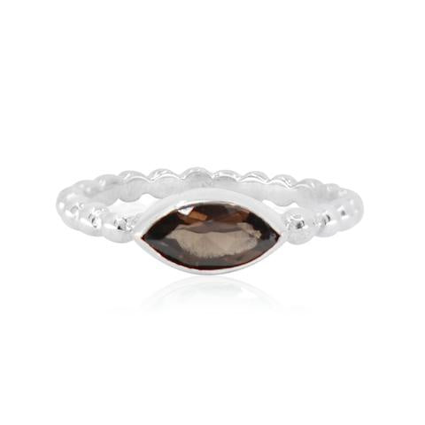 smokey quartz ring available at the white place, orange nsw