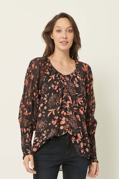 Emma peonies blouse - the dreamer label