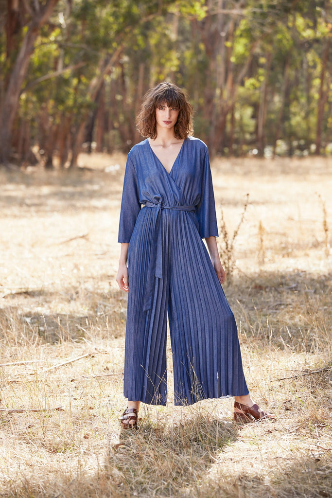 Maud Dainty Spring 2019 available now - Blue Anderson Jumpsuit available at the white place, orange nsw