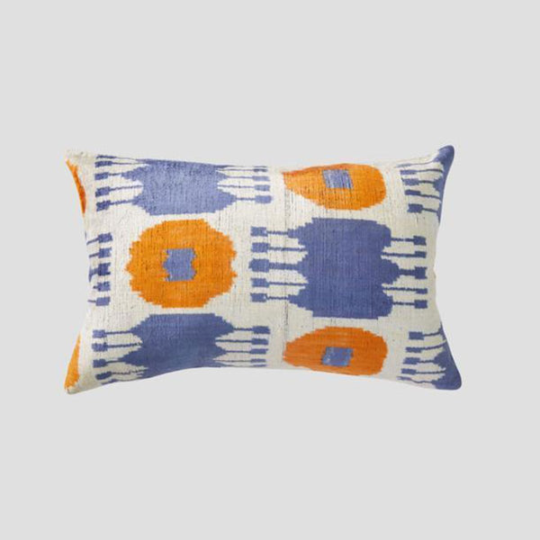 Cultiver silk and velvet cushion - available at the white place, orange