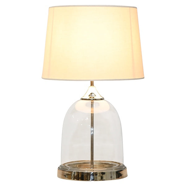 one world collection glass lamp with white shade, available at the white place, orange nsw