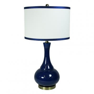 navy table lamp at the white place, orange nsw