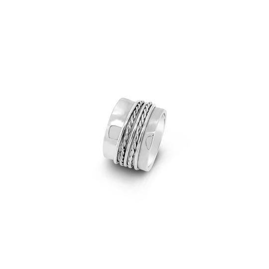 sterling silver rope ring available at the white place, orange
