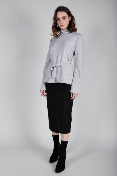 Side knit jumper - silver