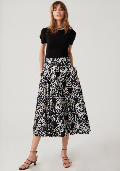 Pol Clothing Etch Skirt - free shipping