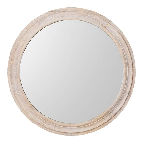 Round timber mirror - The White Place