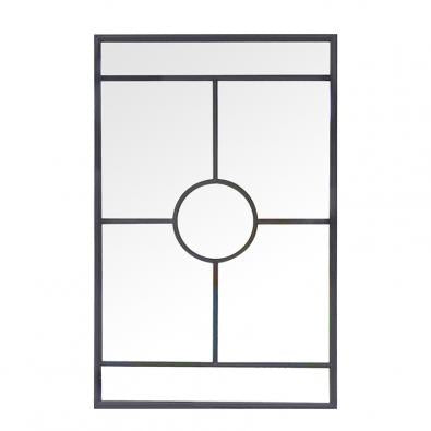Black wrought iron mirror - 110cm x 70cm