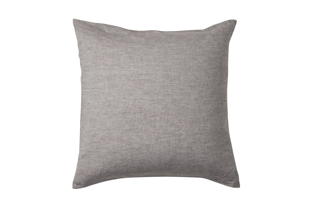 Charcoal Linen Cover - Euro
