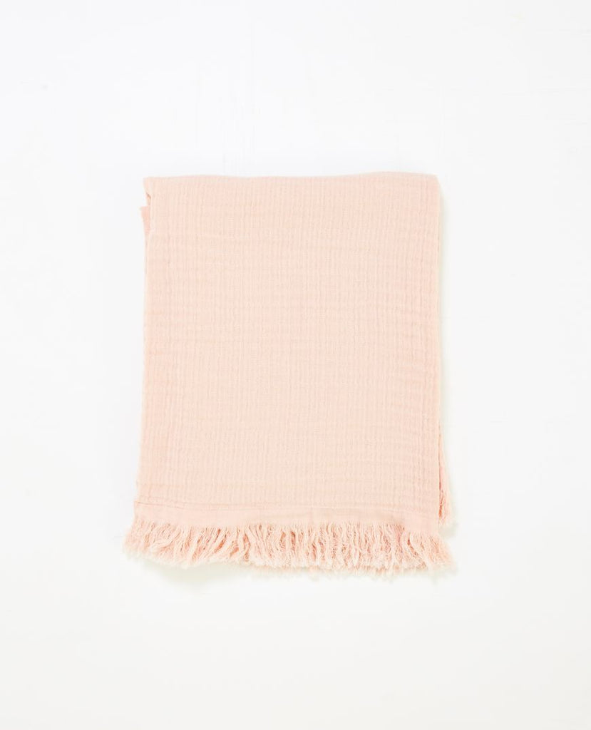 Papaya Salmon throw - available at The White Place, Orange