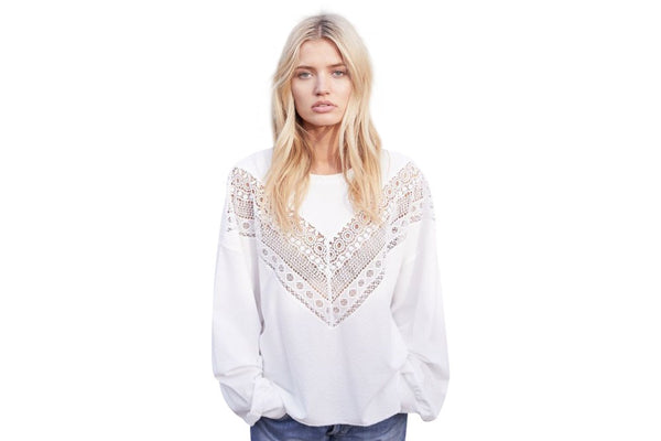 maud dainty white rapids top - available for purchase at the white place, orange nsw