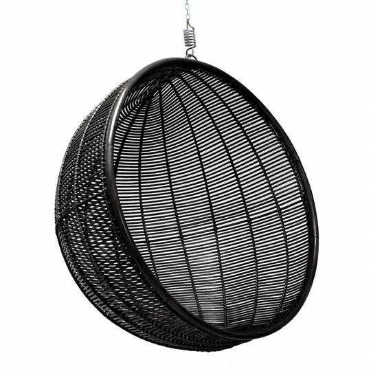 Black bowl hanging chair