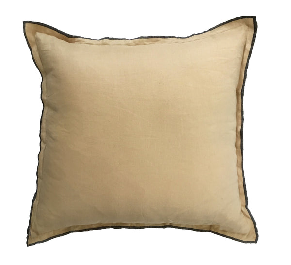 Tumeric linen cushion
