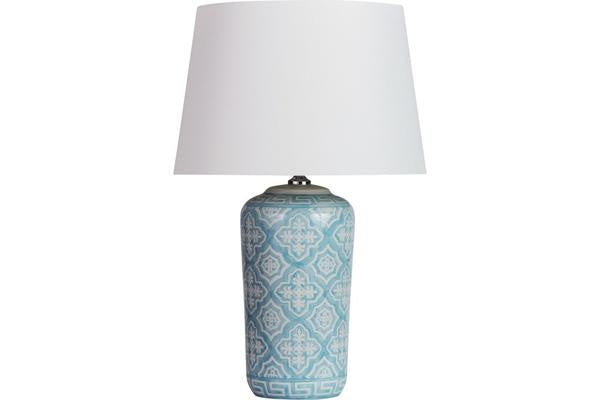 Hastings Lamp by Canvas and Sasson available at the white place, orange
