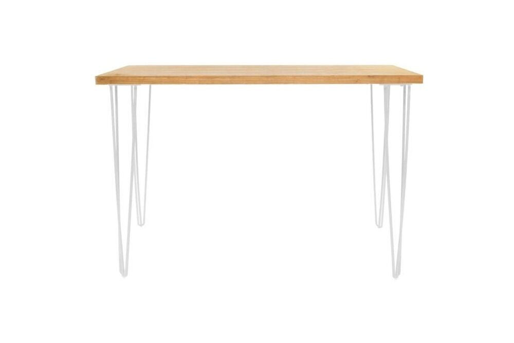 high bar with whit hairpin metal legs and wood top, hire for events and weddings in central west nsw and orange.