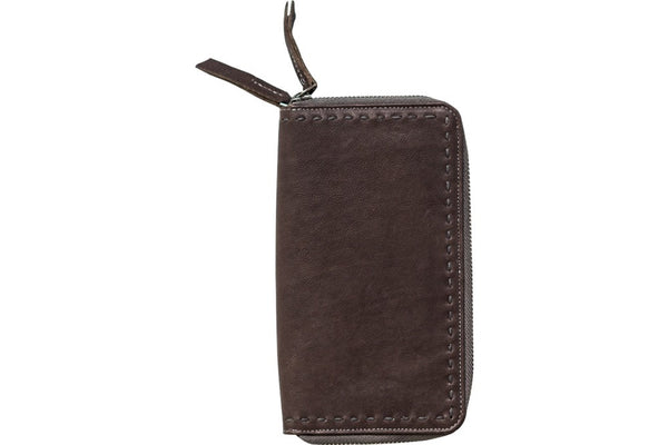 chocolate leather wallet