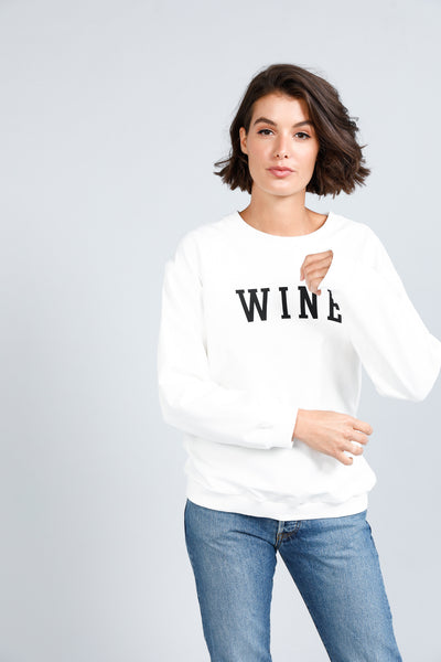 Wine jumper - available at the white place, orange